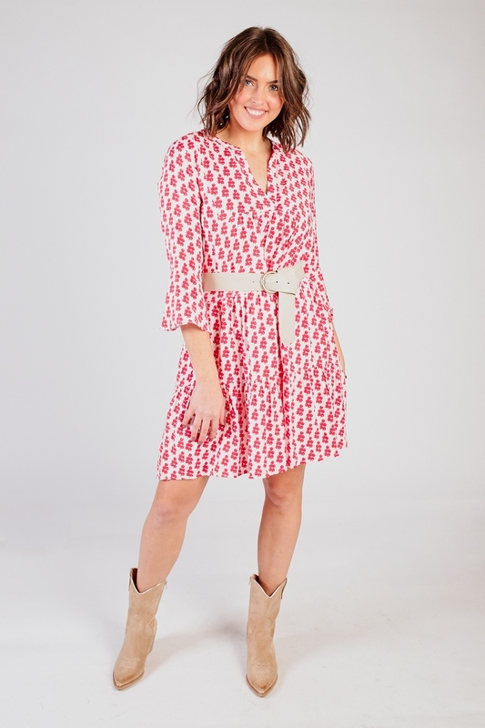 Smashed lemon Midi-jurken Rood 21050