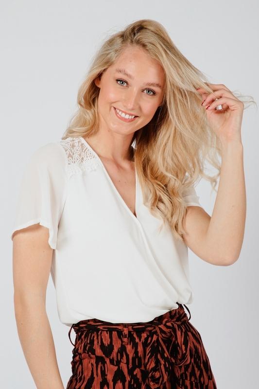 Tramontana Shirt / Top Ecru C25-98-306
