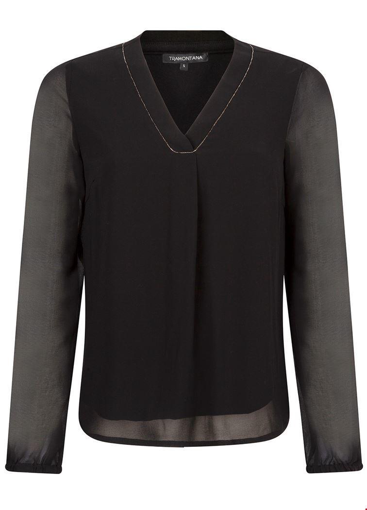 Tramontana Shirt / Top Zwart C25-92-301