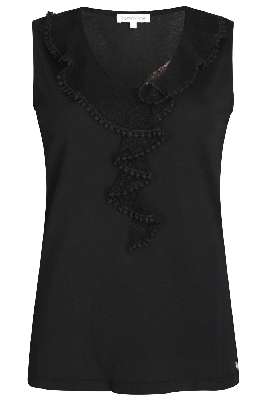 Tramontana Shirt / Top Zwart D17-94-402