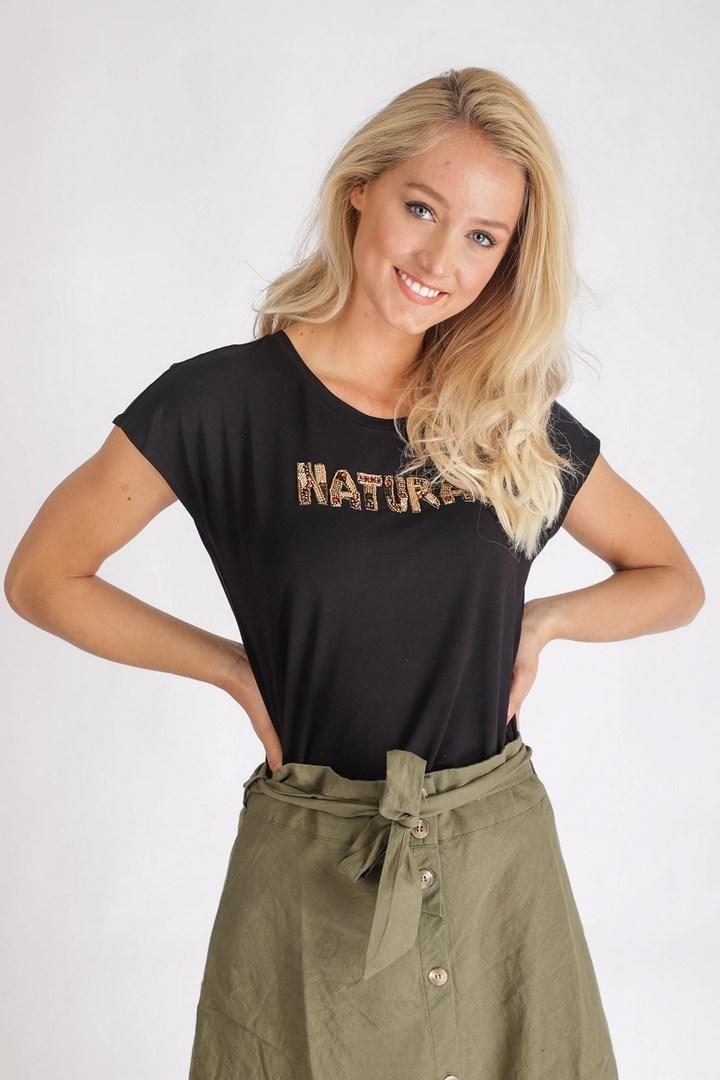 Tramontana Shirt / Top Zwart I07-95-401