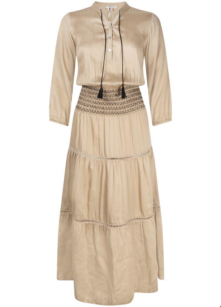 Tramontana Midi-jurken Zand I02-94-501