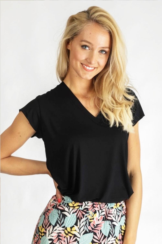 Typical Jill Shirt / Top Zwart Veerle