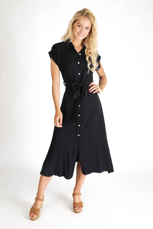 Typical Jill Maxi-jurk Zwart Chantal