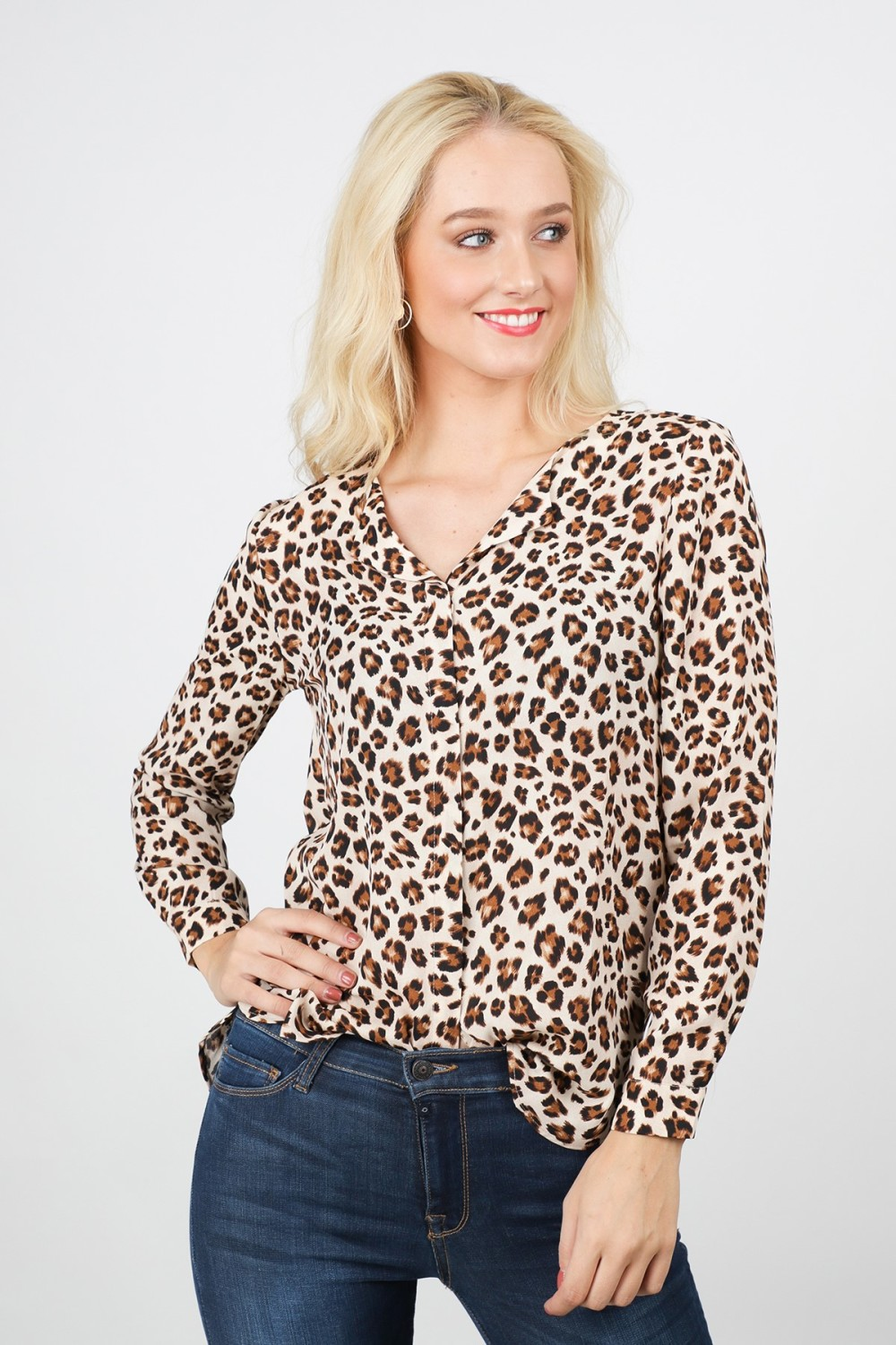 Vila Shirt / Top Dierenprint 14049450