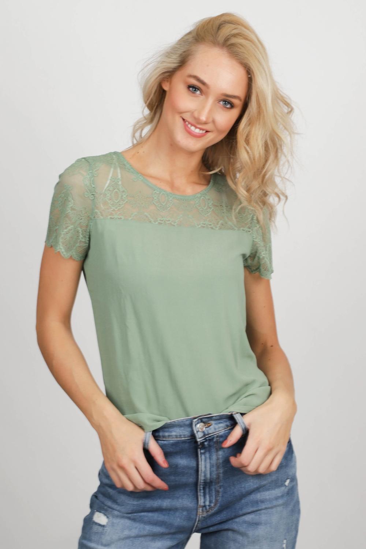 Vila Shirt / Top Groen 14055959