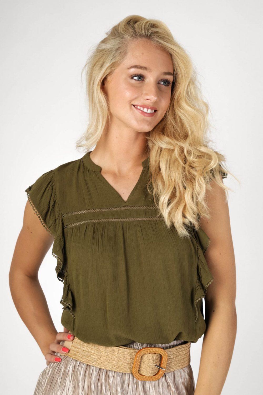 Vila Shirt / Top Groen 14057722