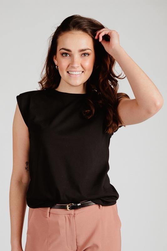 Your Essentials Shirt / Top Zwart Saya