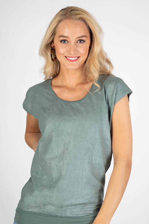Zoso Shirt / Top Groen Sandy